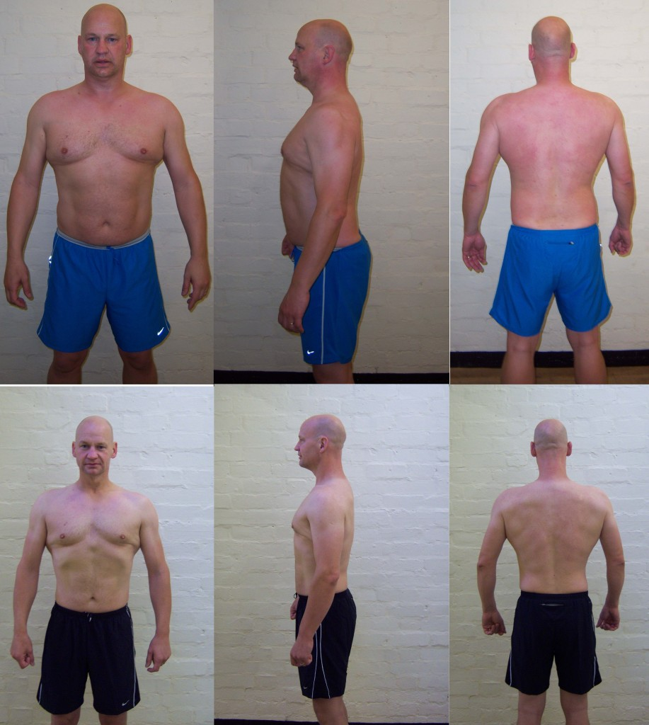 Richard Barnes - Before and After the 12 Week Plan (picture)